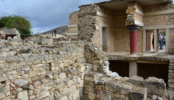 Развалины дворца царя Миноса.