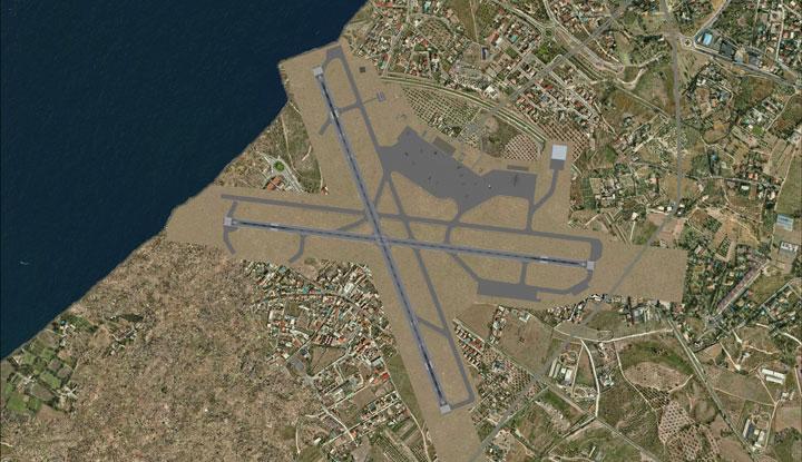 Схема аэропорта.