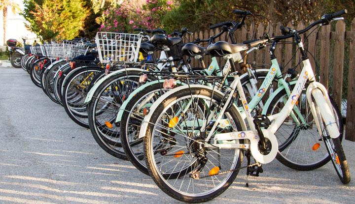 Велосипедная парковка.