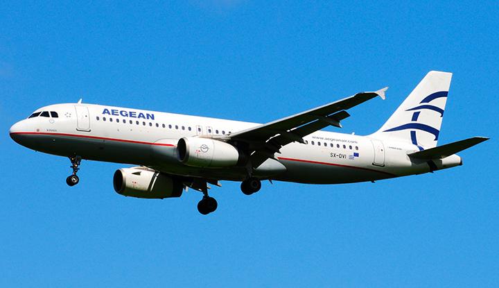 Аэробус Aegean Airlines.