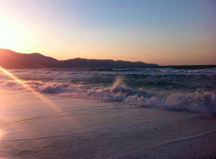 Красота заката на Крите.