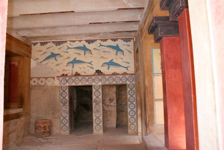 Фреска в Кносском дворце.