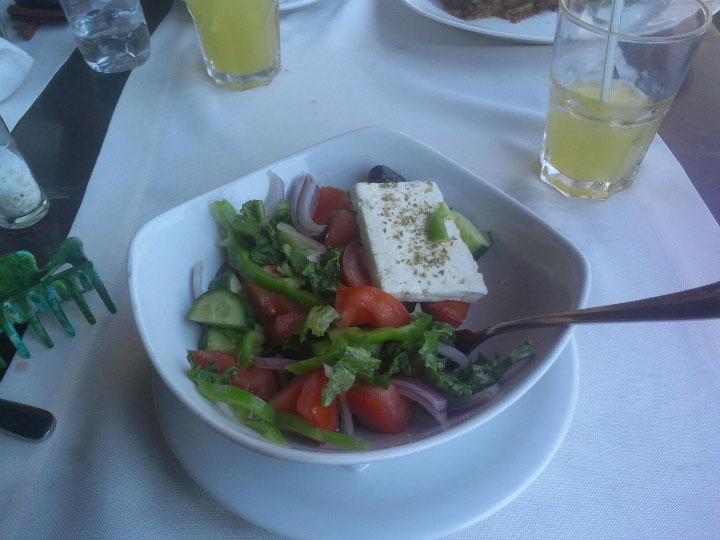 Традиционное греческое блюдо.
