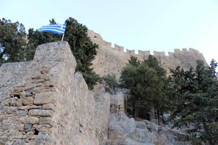 Вид на Акрополь.