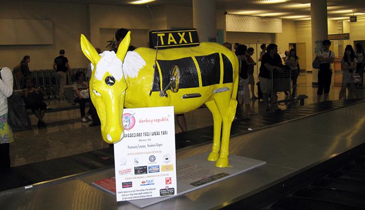 Ослик-такси.