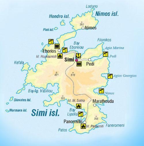 Расположение острова.
