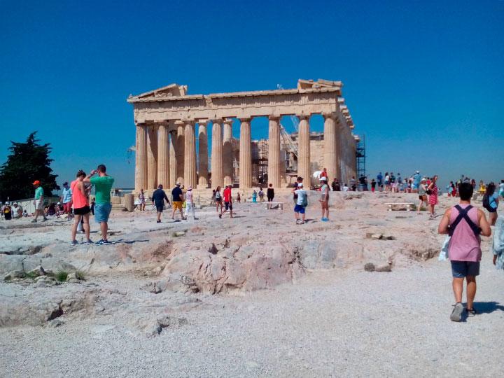 Посещение Акрополя.