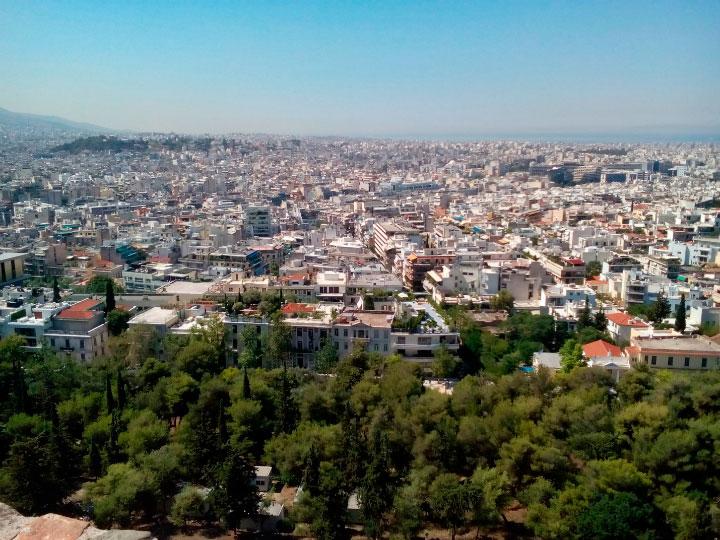 Афины с высоты.