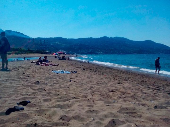 Отдых на пляже.