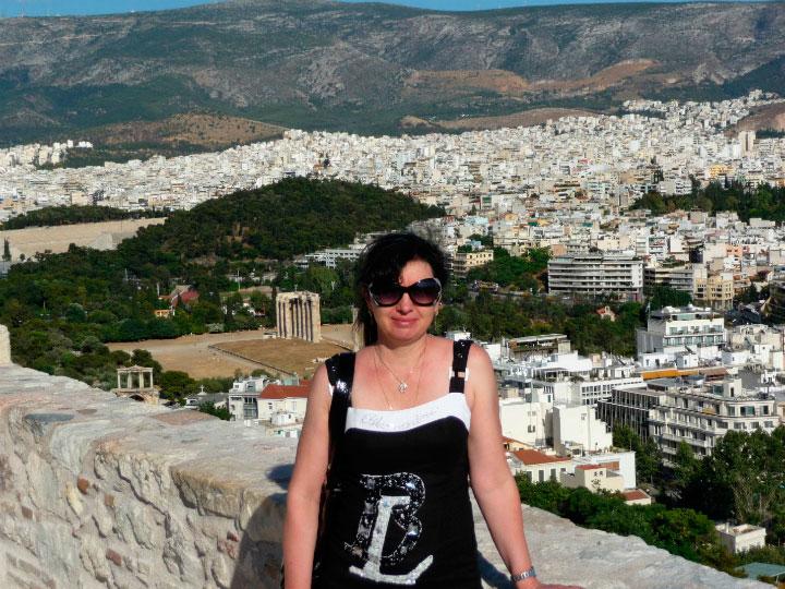 Вид на Афины с высоты.
