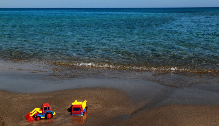 Песчаный берег.
