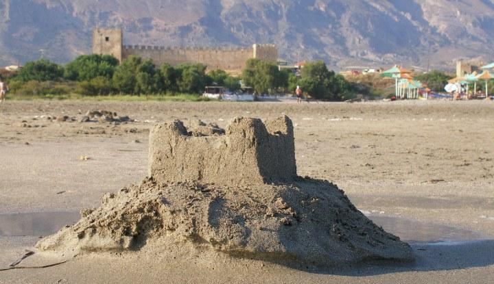 Песочная крепость.