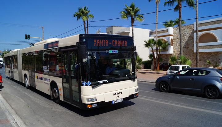 Междугородний автобус на Крите.