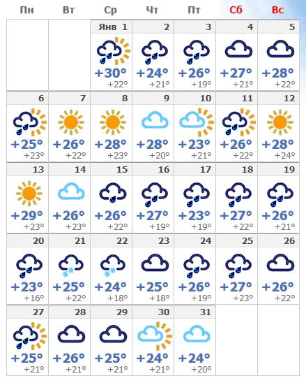 Погодные условия в Афинах в январе 2020 года.