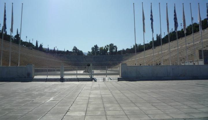 Стадион в Афинах.