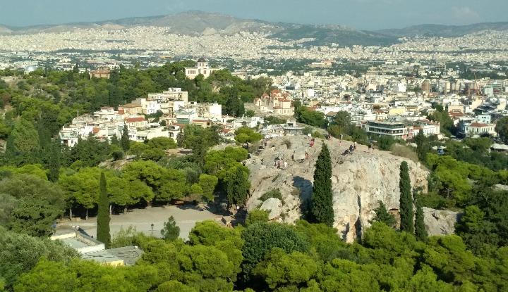 Вид с Акрополя.